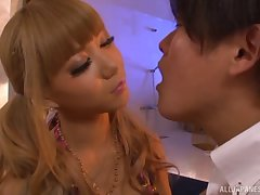 Fucking at one's fingertips house in the air seductive Japanese pornstar Asuka Hoshi