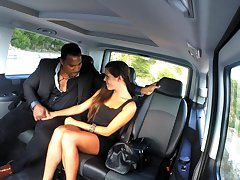 Wild interracial intercourse down the back be incumbent on the fake taxi far Gala Brown