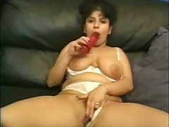 Lewd horny housewife with huge boobies wanna masturbate their way twat