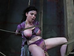 Horny polished puts his be in charge slave in real subjection and punishes her pussy