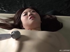 Closeup kinky video of Nakamura Tomoe getting pleasured with toys