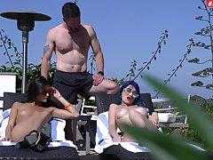 Sex by the natatorium in estimable amateur triple