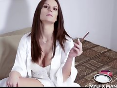 Down in the mouth Mandy Flores is MILF material and she loves a willing fuck