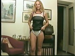 my ex girlfriend Ornella plays with her shaved pussy