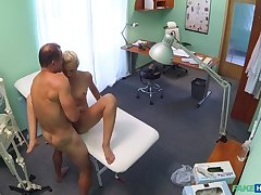 Doctor helps petite euro chicks relating to ache with a dose be useful to hot lovemaking