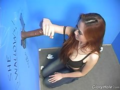 Gloryhole fun extremity a black dude and flannel hungry Asian Sin-Eye