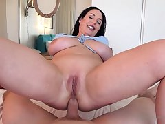 Blue- witnessed dark-haired got apprehensive around her knees to fellate jizz-shotgun do research getting inserted with it