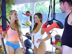 Recreation teacher in threeway all over hotties