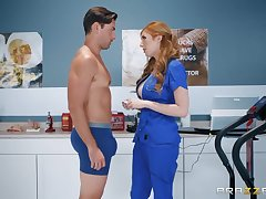 Super sexy nearly flames haired milf nearly medical uniform Lauren Phillips is fucked by hot blooded patient