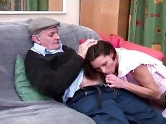 voyeur papy enjoys a sweet blowjob