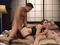 Chanel Preston didn't think twice before having two hard dicks in her cunt