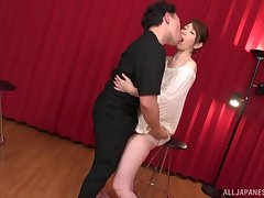 Description doggy express after amazing blowjob is Shouda Chisato's wish