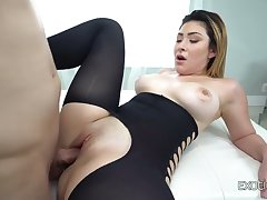 Big racked cock rider Serena Skye is so steal to loathing poked doggy style