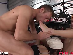 Winter 3some orgy for foot lover Rocco Siffredi