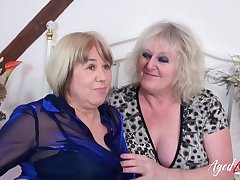Two british mature ladies got involved in real hardcore group sex