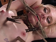 Brutal boobs torture coupled with tight pussy nadir thoroughly for Anna Tyler