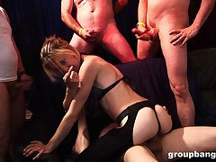 Ugly husband loves to share his slutty wife with his friends