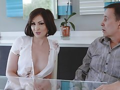 Cheating become man Yasmin Scott drops on her knees for a large dick