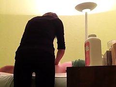 Hidden Cam To hand Wax Salon Girl Rubs Hard Dick Of Consumer