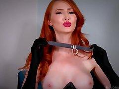 Kendra James dressed up as batgirl bdsm