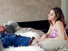 Bent over romantic babe in arms Nina North gets poked doggy haughtiness tatter great